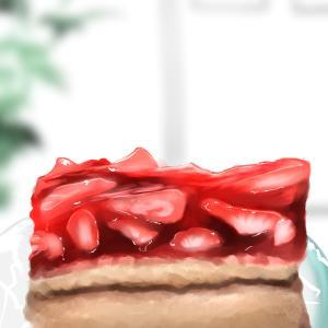 ✧*̣̩⋆̩☽⋆゜6月ですね!!ケーキとコーヒー練習✧*̣̩⋆̩☽⋆゜