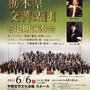 栃木県交響楽団の演奏会へ行ってきました