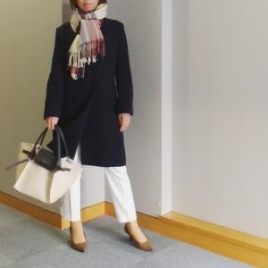 【coordinate】ZARA 形きれいなホワイトパンツで保護者会コーデ