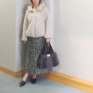 【coordinate】バランス◎なボアブルゾン×ロングスカート