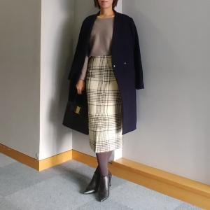 【coordinate】Newなチェック&タイトスカートで細見えきれいめコーデ