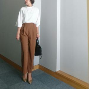 【coordinate】ゆるリラックスなワイドパンツで大人女性のパンツスタイル