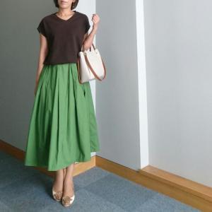 【coordinate】こっくり秋カラーなスカートコーデ