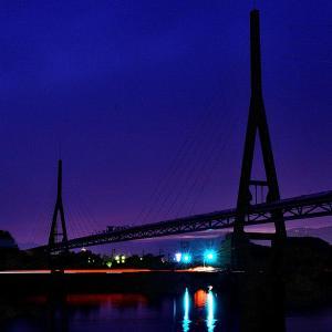 国分川の夜景②