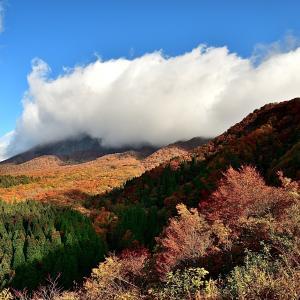 「鍵掛峠」より大山を見る