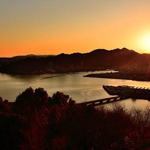 五台山からの夕景