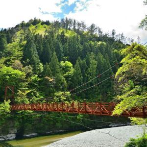 新緑の吉野川探訪③ もう一つの越裏門橋
