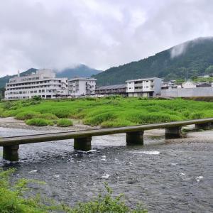 吉野川の「飛び岩沈下橋」
