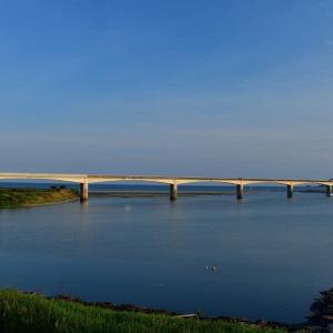 仁淀川河口大橋の夕景