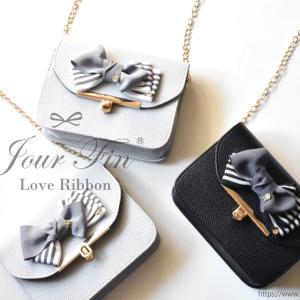 ◆バレエ発表会のプレゼントにラブリボンスマートフォンミニバッグ♪