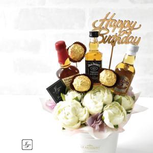 【告知】JourFin®アルコールブーケレッスン♡メンズの好きなミニボトル&チョコを詰めて♪