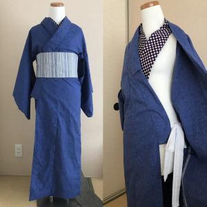 暑くなる日本列島。ついたけ着物、襦袢なしで涼しい着物にチャレンジ。
