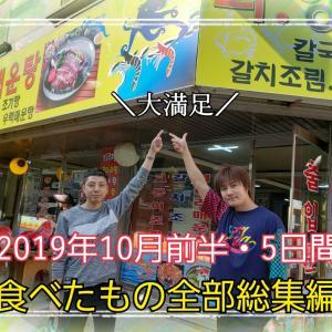 ソウル5日間の食べ歩きの全て《2019年10月ソウルで食べたもの総集編》