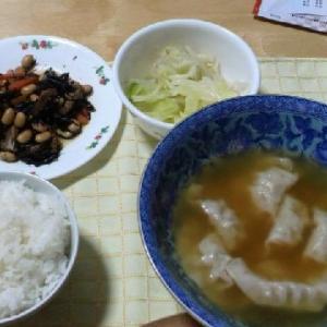 スープ餃子と里芋煮