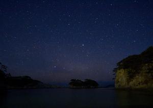 浄土ヶ浜の星空