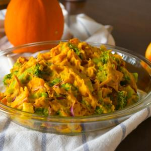 ハロウィンに最適!かぼちゃとブロッコリーのサラダと洗濯機の奥から出て来たもの