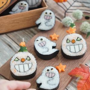 ハロウィン飾り巻き寿司
