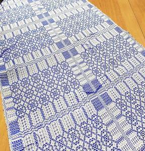 手織り初心者さんがとても綺麗に織れるようになって♪+アシュフォードテーブルルーム