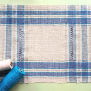 房の始末と平織りのポイント模様