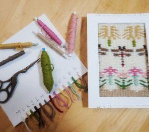 額マットで織るブンデンローゼンゴン『秋』