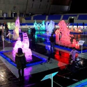 信州・長野 氷の彫刻展(於:エムウェーブ)へ・・・・・・!