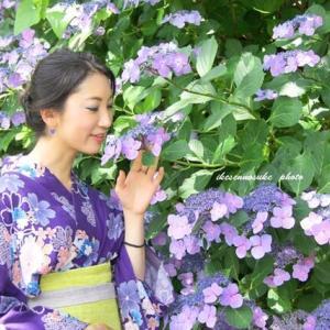 紫陽花…、そして浴衣美人を………!