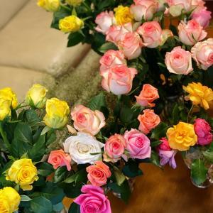 薔薇があるのに、ドライフラワーでティータイム