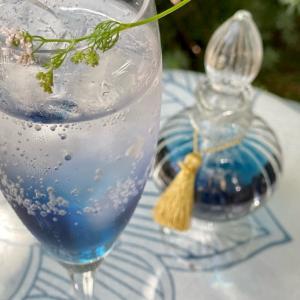 青いシロップ パクチーの花 タイのオリエンタルホテル
