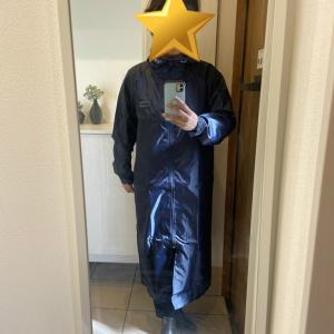 大雨に備えてロングタイプのレインコートを買いました!