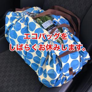 【コロナウイルス】エコバッグをしばらくお休みします。