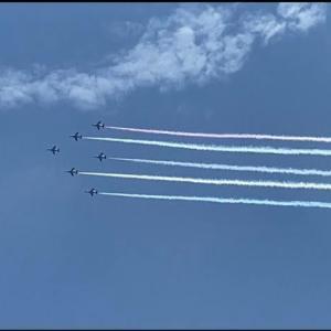 オリンピック開幕!ブルーインパルス撮影成功