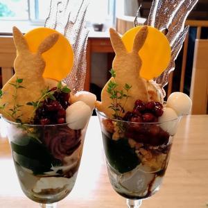 1日限定5食・お月見パフェ☆北風と太陽@栃木県那須塩原市