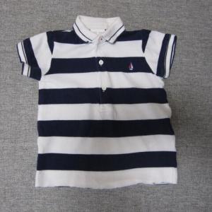 きつくなった赤ちゃんロンパースをポロシャツにリメイク。