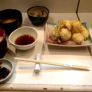 和食料理店のランチの穴子天定食 和歌山市福町 季節料理こじま