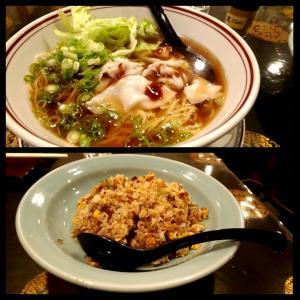 少しお高めの香港料理の中華料理店で鶏ガラしょうゆスープのワンタン麺 和歌山県白浜町銀座通り 品品香(ピンピンシャン)