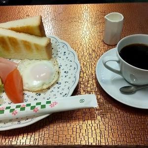 紀伊田辺駅前の駅前通りにある喫茶店のモーニングセット 和歌山県田辺市湊 ティールーム ピュア