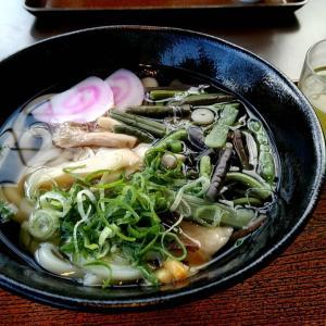 高野山への途中にあるドライブインで山菜たっぷりの山菜うどん 和歌山県高野町花坂 讃岐うどん空海