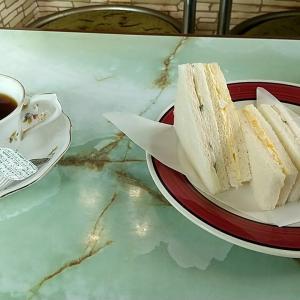 和歌山市の老舗喫茶店のサービスメニュー サンドイッチ ドリンク付 和歌山市古屋 喫茶八幡