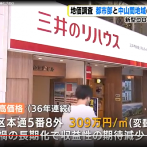 広島市の都市問題 広島市基準地価2年連続下落する