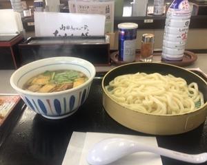 10月14日朝食(ファミリー食堂山田うどん食堂 鴨つけ汁うどん)