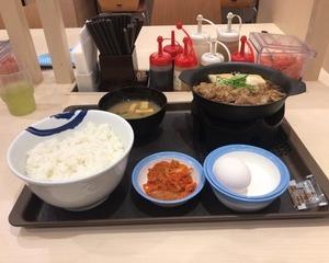 10月15日夕食(松屋 お肉たっぷり牛鍋膳)