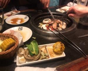 10月14日夕食(牛角 80品以上食べ放題 お気軽コース X 2h飲み放題)
