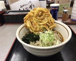 11月9日夕食(ファミリー食堂 山田うどん食堂 天ぷらそば)