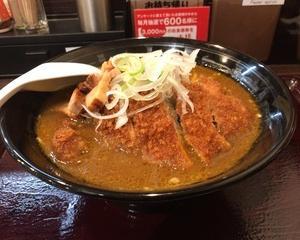 11月13日夕食(カレーハウスCoCo壱番屋 手仕込とんかつカレーらーめん + チャーシュ)