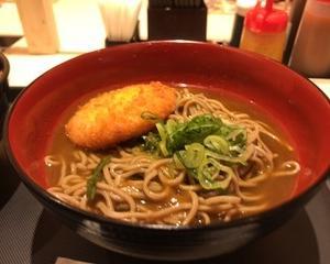 11月14日昼食(松のや カレーコロッケそば)
