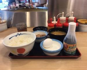 11月18日朝食(松屋 たまごかけ朝定食)