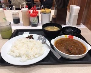 12月9日昼食(松屋 創業ハンバーグビーフカレー)