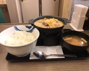 12月10日夕食(松屋 シュクメリ鍋膳)