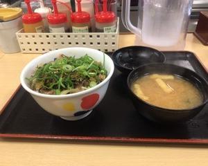 12月15日昼食(松屋 高菜牛めし)