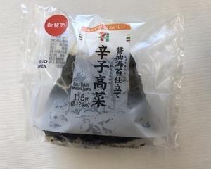 1月22日夕食(セブンイレブン 醤油海苔仕立ておむすび 辛子高菜)